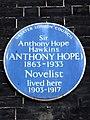 Sir Anthony Hope Hawkins (ANTHONY HOPE) 1863-1933 Novelist lived here 1903-1917.jpg