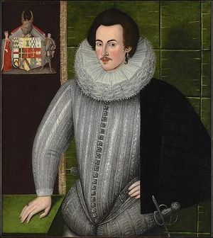 Charles Blount, 8th Baron Mountjoy - c. 1594 portrait by unknown artist