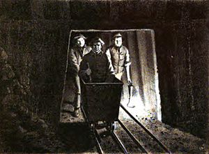 John Hawkshaw - Sir John Hawkshaw (in cart) inspecting the Severn Tunnel during its construction