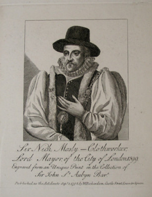Hough End Hall - Sir Nicholas Mosley pictured in 1599 as Lord Mayor of London