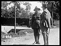 Sir Thomas MacKenzie talking with a New Zealand soldier in France, World War I (21663028546).jpg