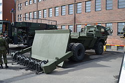 Sisu RA-140 DS demining vehicle of Finnish Defence Forces.JPG