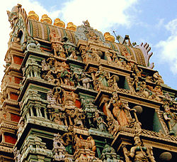 Gopuram of Mariamman temple