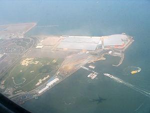 Hong Kong SkyCity - Aerial view of part of SkyCity