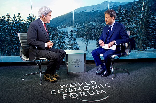 Sky Arabia Host Muhammed Le Interviews Secretary Kerry at the World Economic Forum in Davos (32368960365).jpg