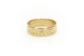 Slät, platt ring av guld med graverad inskrift - Skoklosters slott - 92271.tif