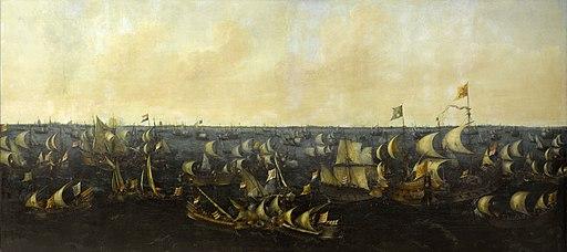Slag op de Zuiderzee, 6 oktober 1573 (Abraham de Verwer, 1621)