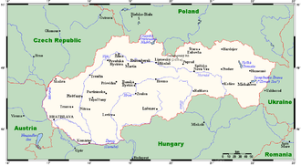 Geography of Slovakia - Slovakia's cities and main towns