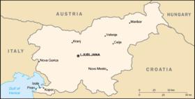 carte de la slovenie