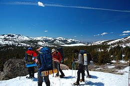 Snowshoeing in Kirkwood, Alpine County, California.jpg