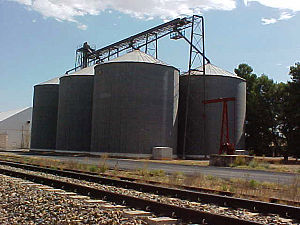 Snowtown, South Australia - Grain silos on western side of railway tracks, Snowtown