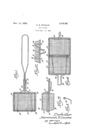Soap shaker - Soap shaker, drawing as part of its granted patent