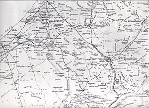 Stalemate in Southern Palestine - British Army map of the Gaza and Beersheba areas