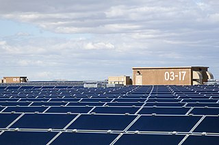 Topaz Solar Farm photovoltaic power station in San Luis Obispo County, California