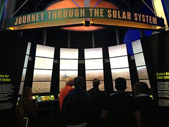 Perot Museum of Nature and Science - Journey Through The Solar System exhibit at the Expanding Universe hall