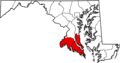 Southern Maryland highlighted.png