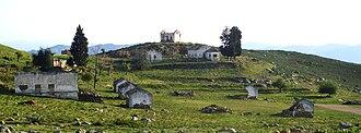 Rif War - Ruins of a Spanish camp near Chefchaouen.