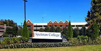 Spelman College - Spelman College sign outside campus gates