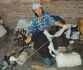 Spinning old woman in Nepal..jpg
