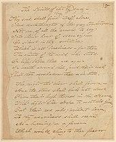 Page manuscrite sur papier brun