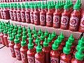 Sriracha direct from the factory - Huy Fong Foods Sriracha sauce 2014.jpg