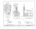 St. Anthony's Chapel, Old Mission Vicinity, Festina, Winneshiek County, IA HABS IOWA,96-FESTI.V,1- (sheet 1 of 2).png