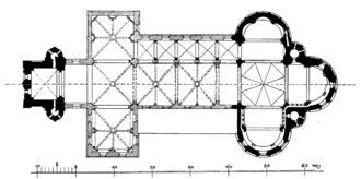 Basilica of the Holy Apostles, Cologne - floor plan