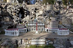 St. Peters Church in Rome, Ave Maria Grotto, Cullman (Cullman County, Alabama).jpg