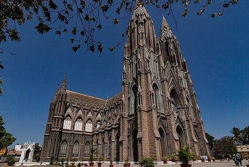 St. Philomena's Church perspective view, Mysore