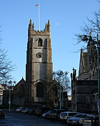 St Andrew's Church, Plymouth - Tower of St Andrew's Church