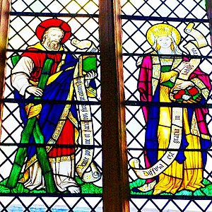 Psalm 45 - English Window Quoting the Psalm.