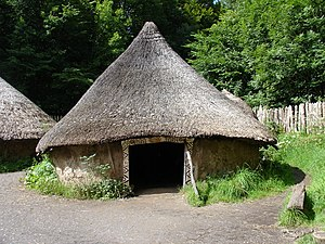 Pytheas - Reconstruction of a Celtic thatched hut in Wales