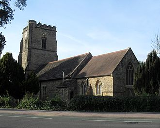 Crawley - St John the Baptist's Church from the southeast