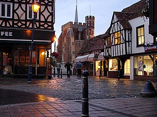 Hitchin market town in the North Hertfordshire District in Hertfordshire, England