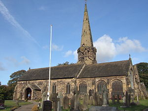 Grade I listed churches in Lancashire - Image: St Michael's Parish Church, Aughton