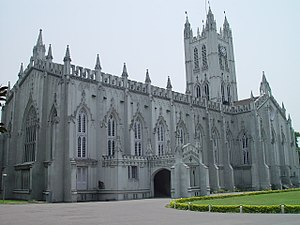 St. Paul's Cathedral was built in Calcutta dur...