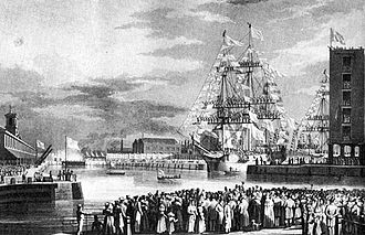 St Katharine Docks - Image: St katharine docks 1828