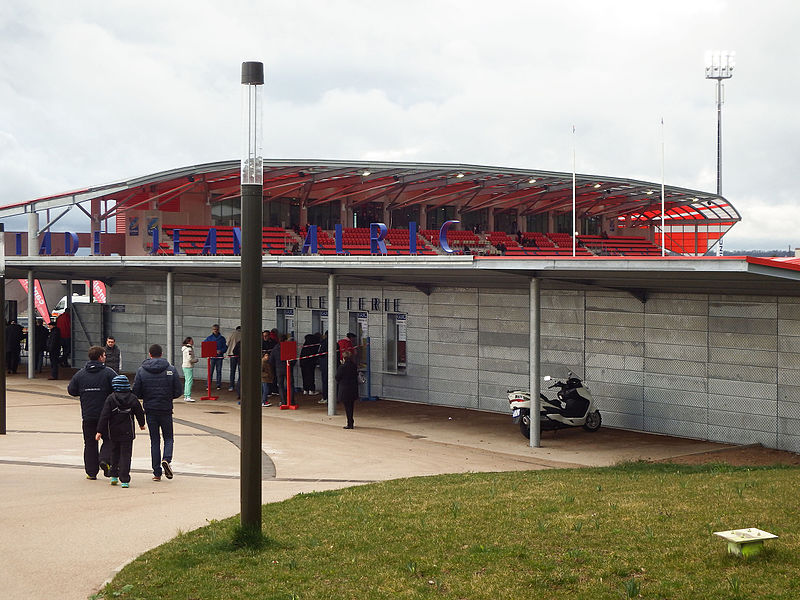 28 March 2015, Stade Jean Alric. Match between:  Stade Aurillacois Cantal Auvergne — US Dax