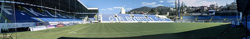 Northern stand built in 1986