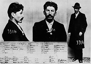Joseph Stalin - Stalin in 1911 mugshots taken by the Tsarist secret police.