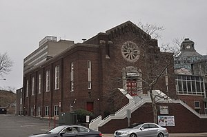 National Register of Historic Places listings in Stamford, Connecticut - Image: Stamford CT Former Agudath Sholem 1