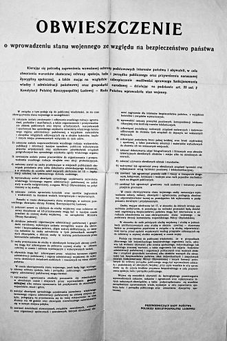 Martial law in Poland - The proclamation of martial law by the State Council