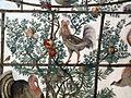 Stanza degli uccelli, volta, gallo.JPG
