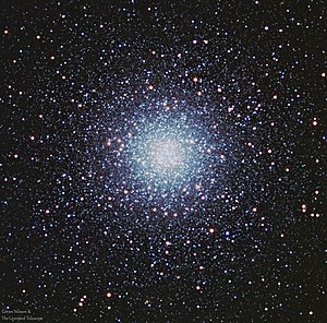 Messier 53 - RGB image of M53 from an earthbound telescope, The Liverpool Telescope, which is a 2 m RC telescope on La Palma.