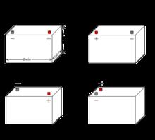 autobatterie abmessungen