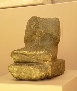 Ibiaw (vizier) - Statuette of Senebhenaf B citing his parents, vizier Ibiaw and Renressonb. Bologna, MCA.