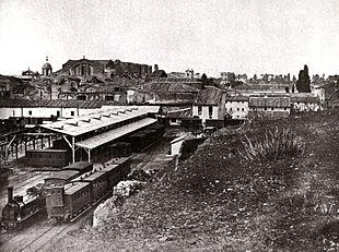 La Stazione Termini in una foto del 1868