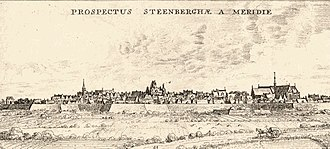 Battle of Steenbergen (1583) - Panoramic view of Steenbergen. Unknown artist.
