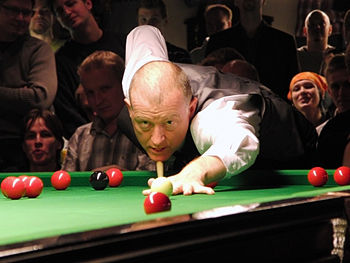 English: Steve Davis at Sports Club Turku in F...