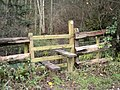 Stile on footpath into Rabbit Warren Plantation - geograph.org.uk - 628145.jpg